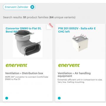 Оборудование Enervent-Zehnder теперь в MagiCAD!