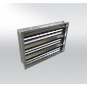 Алюминиевая регуляционная прямоугольная заслонка RKALM